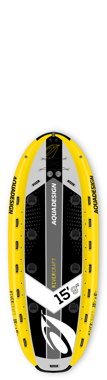 STAND UP PADDLE BOARD GONFLABLE (SUP) RIVERCRAFT 15'9 JAUNE