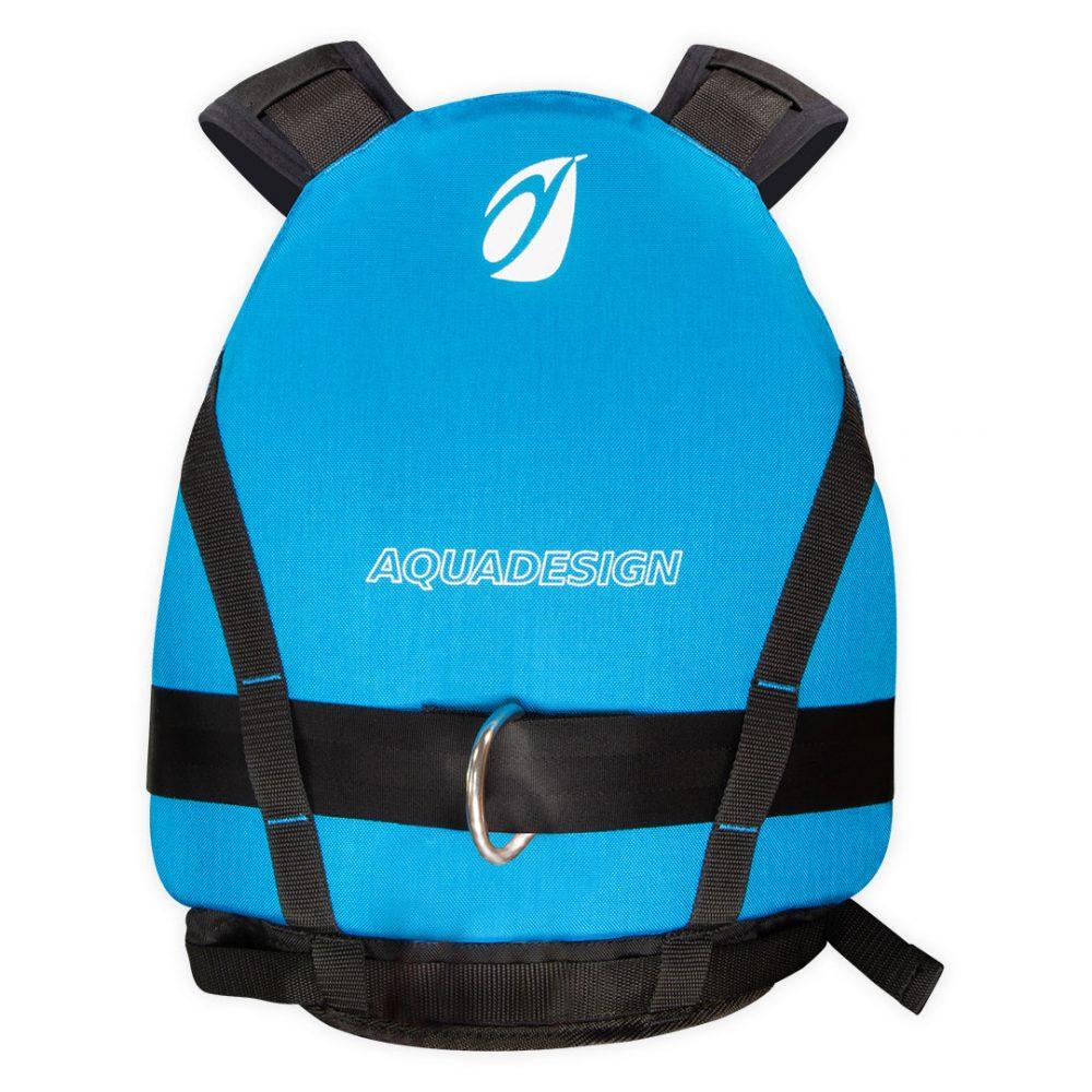 Gilet guide canoë kayak Upano vue arrière bleu