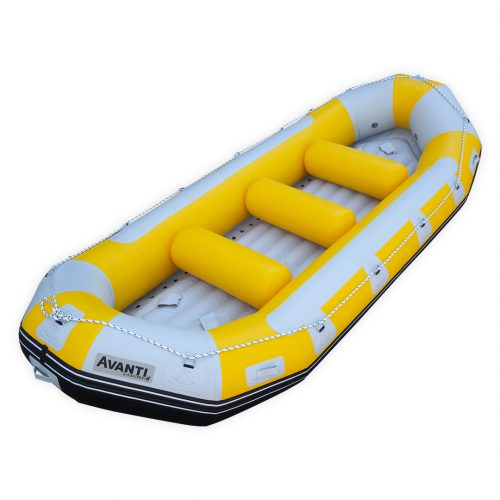 RAFTING GONFLABLE PVC FOND DROPSTITCH AVANTI 420 AQUADESIGN VUE D'ANGLE
