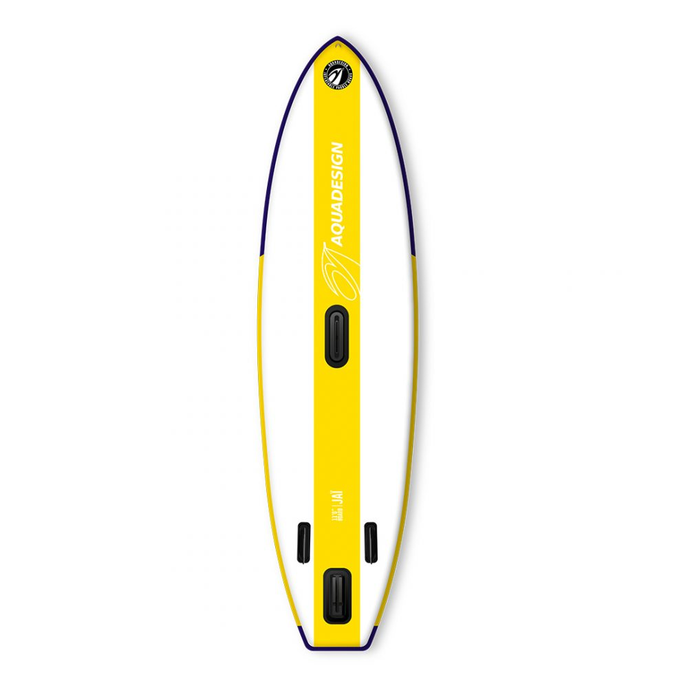 STAND UP PADDLE BOARD GONFLABLE PVC JAI AQUADESIGN VUE DERRIERE