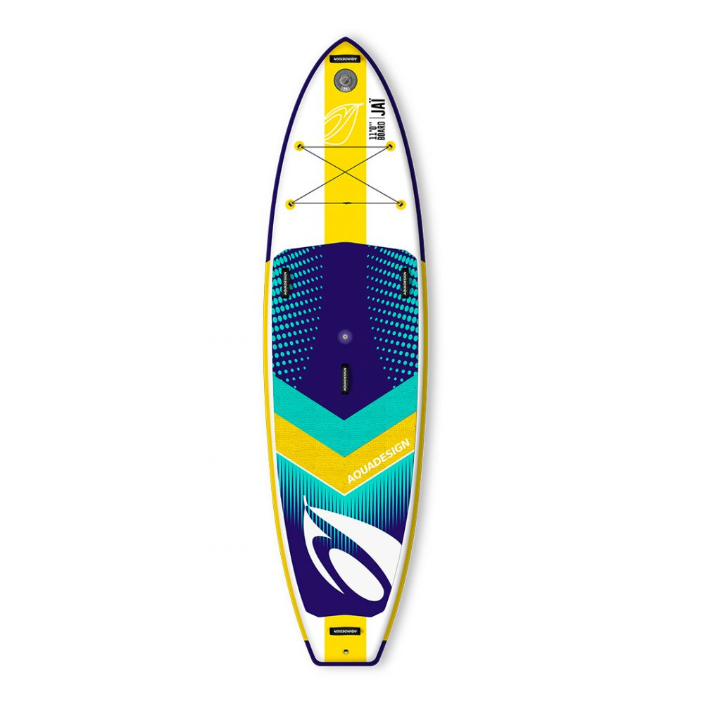 STAND UP PADDLE BOARD GONFLABLE PVC JAI AQUADESIGN VUE DEVANT