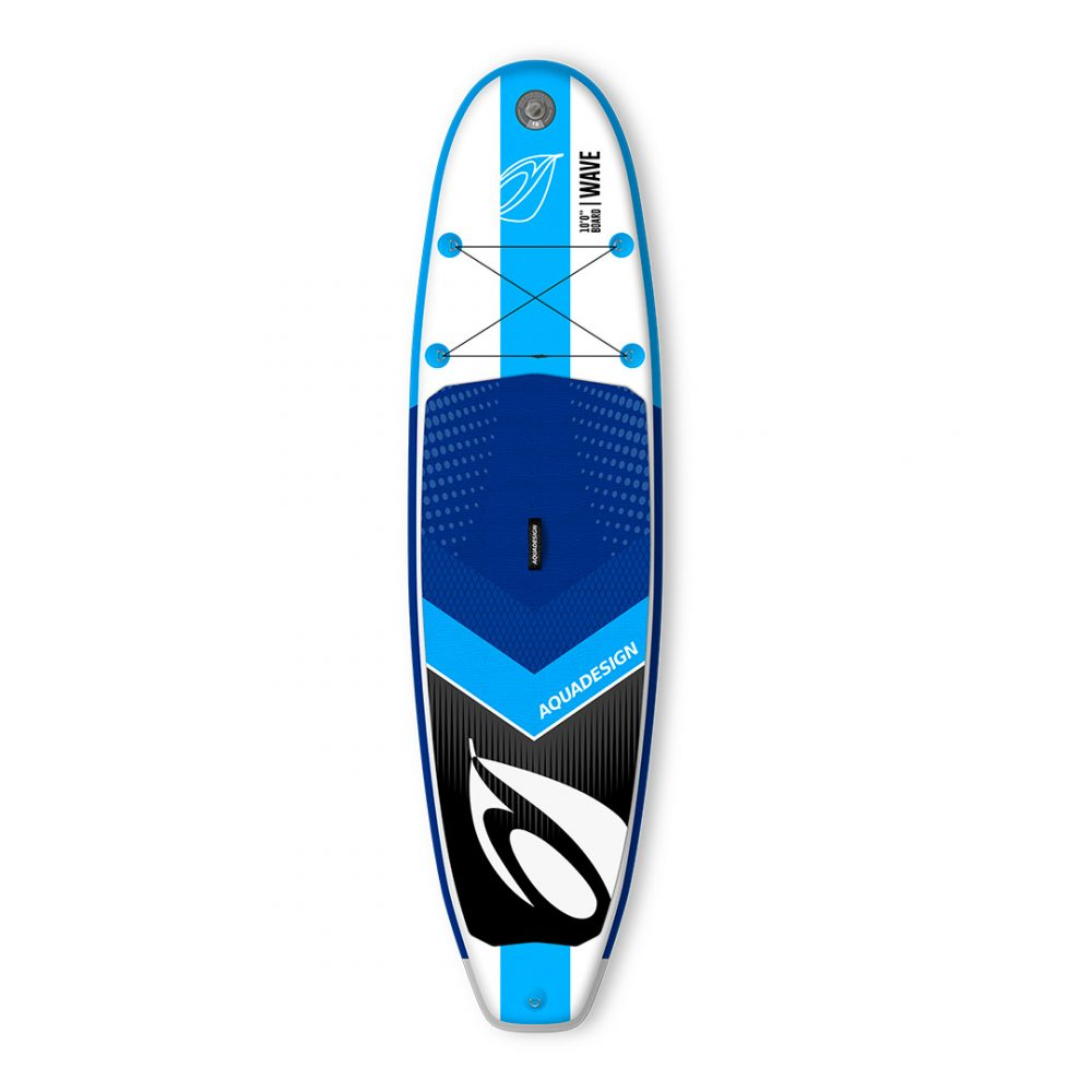 STAND UP PADDLE BOARD GONFLABLE PVC WAVE AQUADESIGN VUE DEVANT