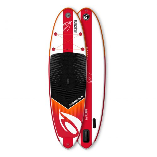 STAND UP PADDLE GONFLABLE PVC KENDO AQUADESIGN VUE DERRIERE ET DEVANT