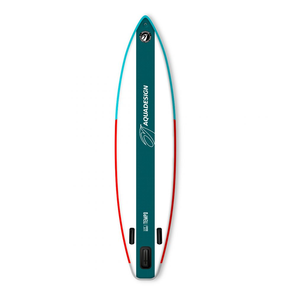 STAND UP PADDLE BOARD GONFLABLE PVC TEMPO AQUADESIGN VUE DERRIERE