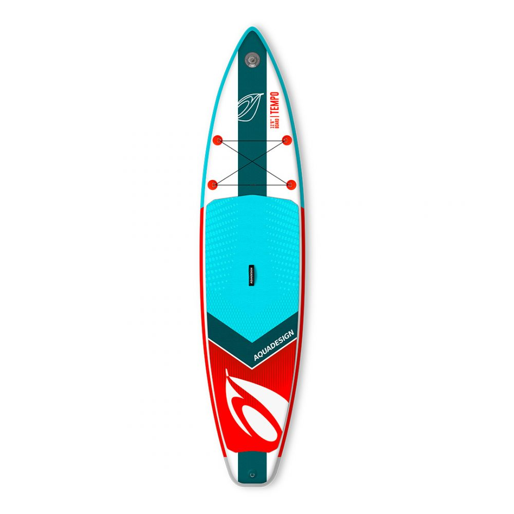 STAND UP PADDLE BOARD GONFLABLE PVC TEMPO AQUADESIGN VUE DEVANT