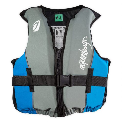 Gilet canoë kayak outdoor club avant bleu