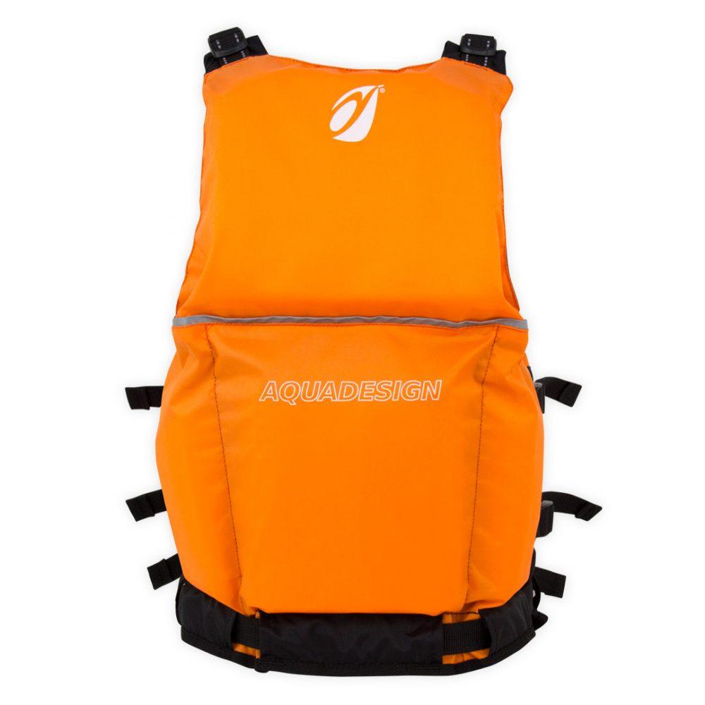Gilet canoë kayak seal orange arrière