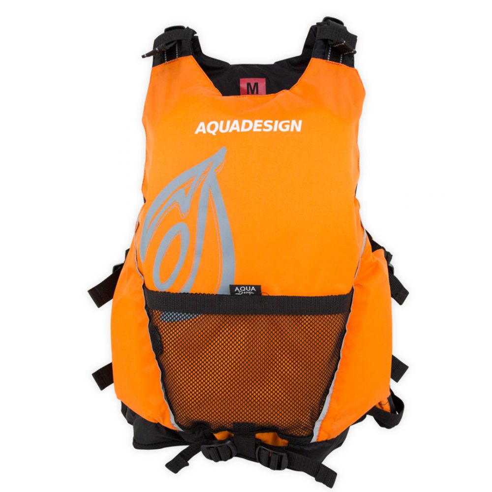 Gilet canoë kayak seal orange avant