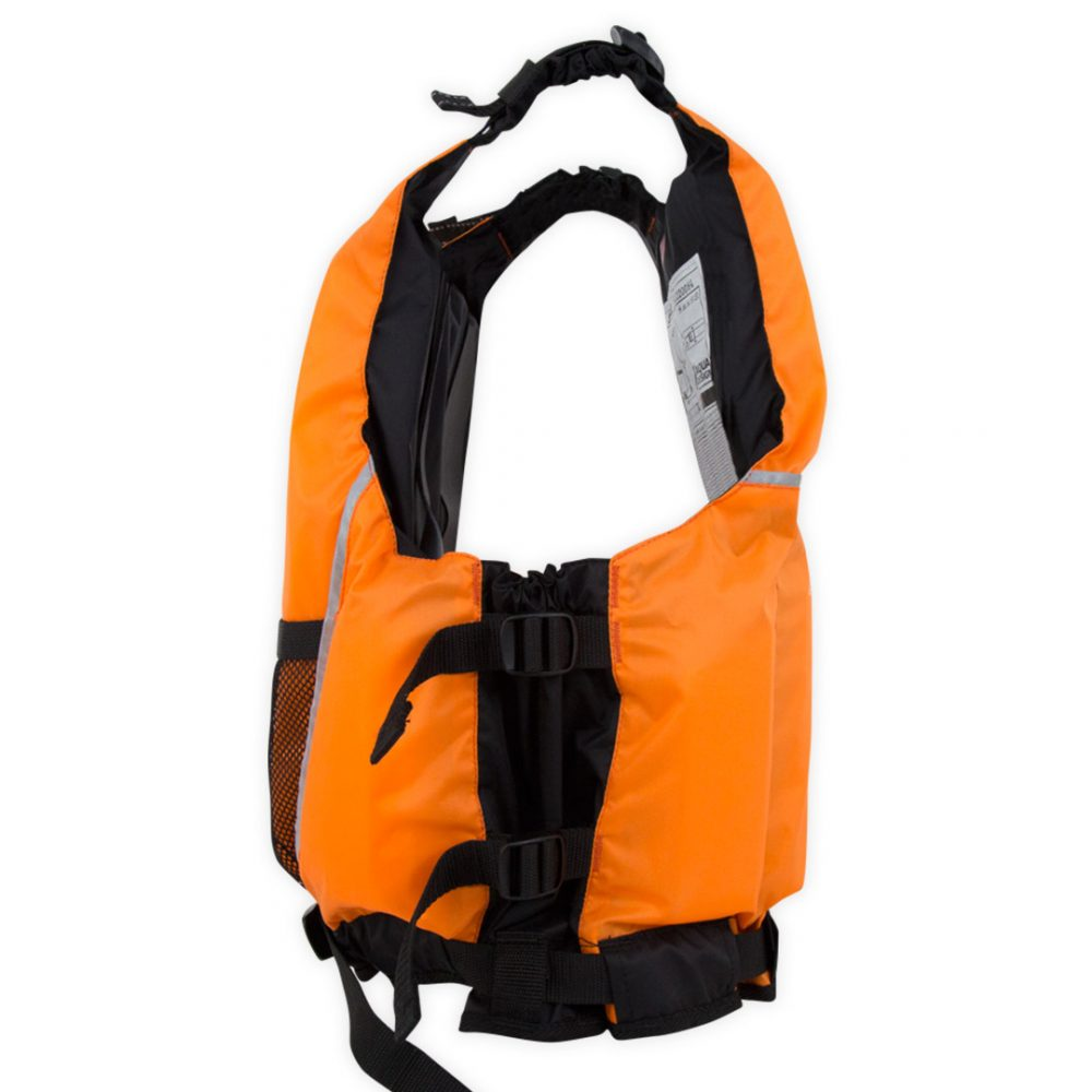 Gilet canoë kayak seal orange côté