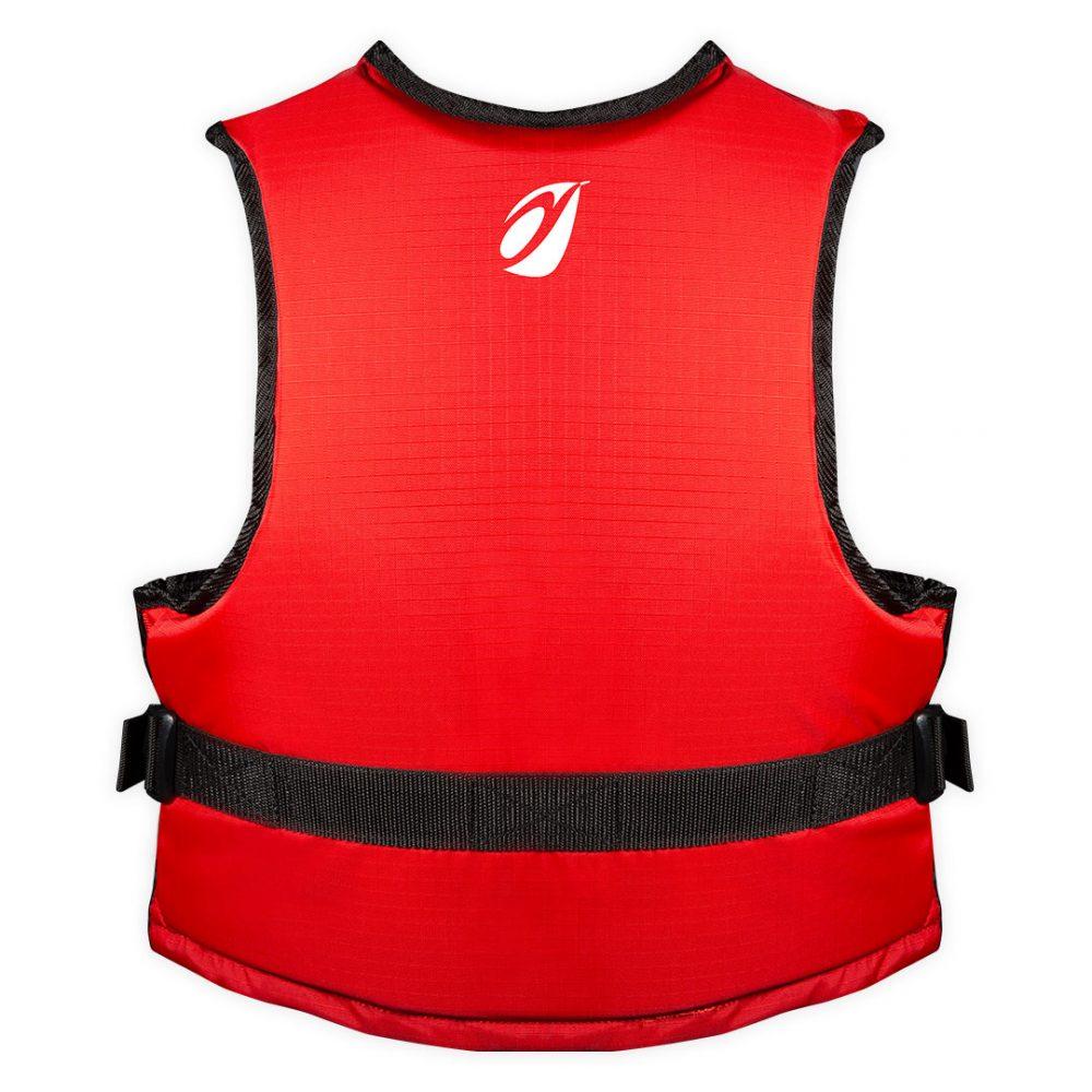 Gilet Trek canoë kayak vue arrière rouge M/L