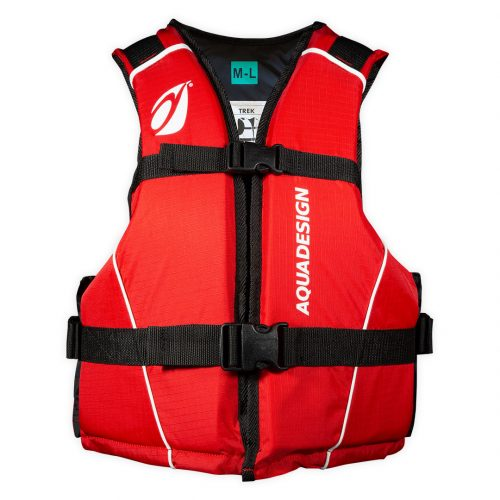 Trek jacket canoe kayak front view red M/L