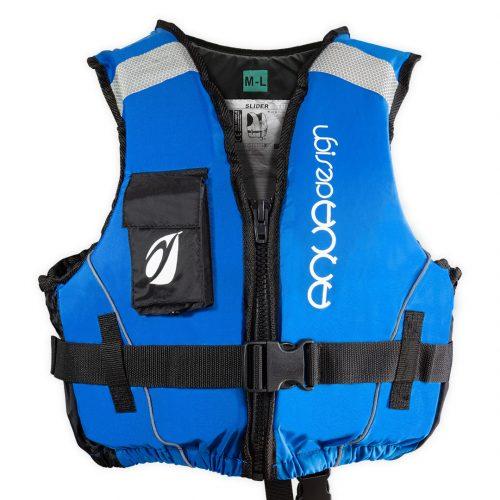 Gilet canoë kayak slider bleu