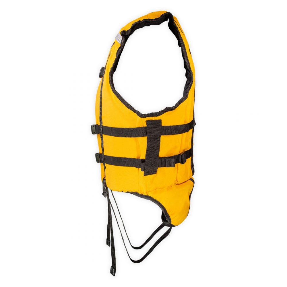 Gilet nage en eaux-vives Hydroflow vue de côté jaune