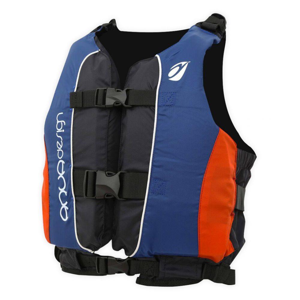 Gilet canoë kayak twist club bleu & rouge angle