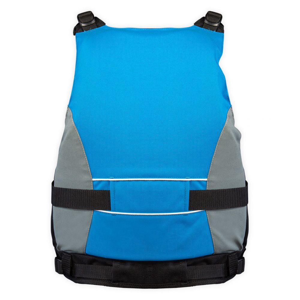 Twist Pro jacket canoe kayak back view blue