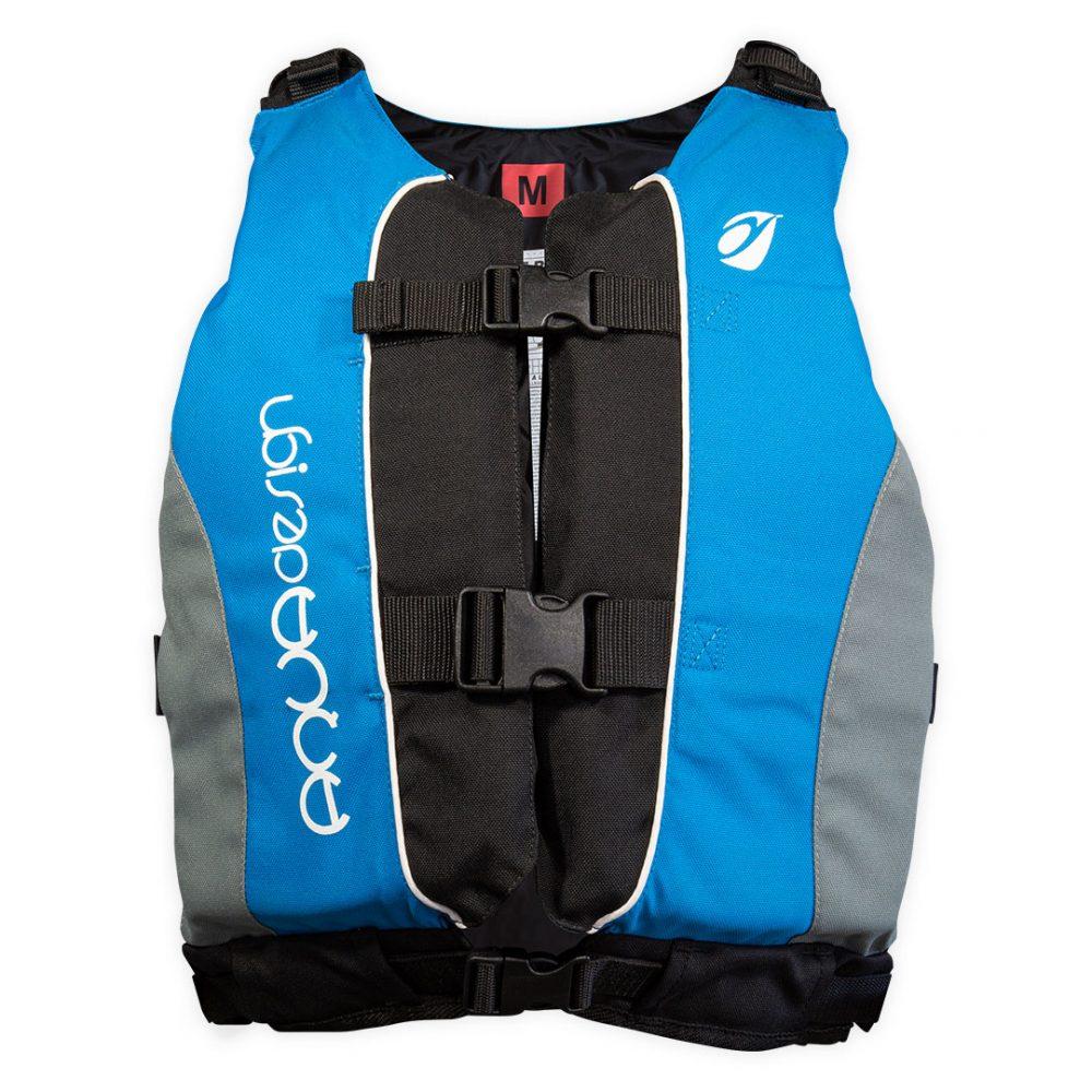 Gilet Twist Pro canoë kayak vue avant bleu
