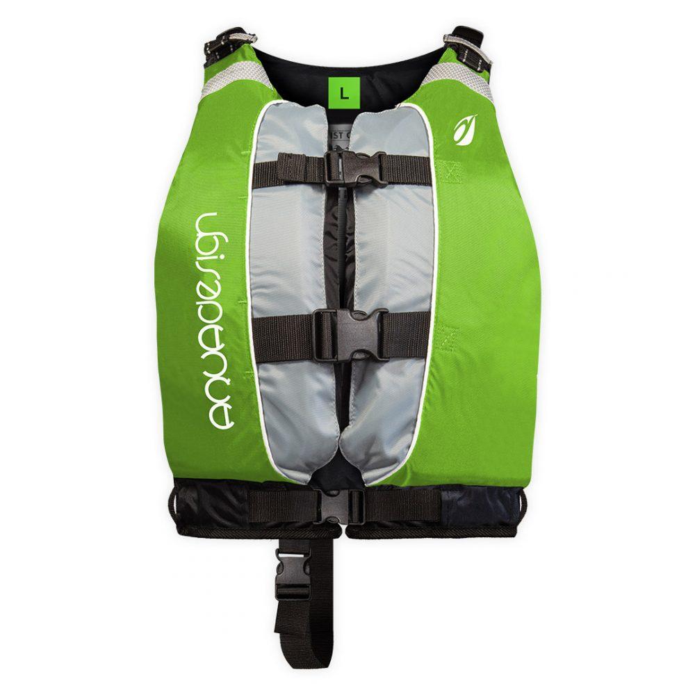 Gilet canoë kayak twist club vert L une couleur par taille