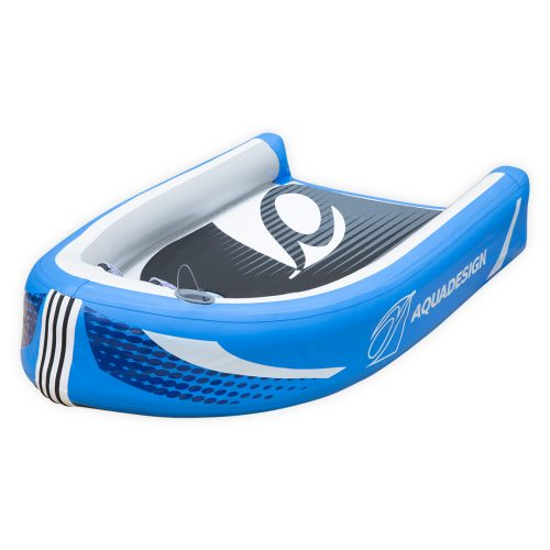 HYDROSPEED RIVIERE GONFLABLE PVC FOND DROPSTITCH SQUAL TOURING AQUADESIGN VUE D'ANGLE