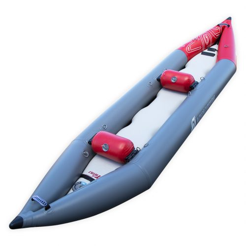 CANOE KAYAK PVC GONFLABLE FOND DROPSTITCH TWIKI II AQUADESIGN VUE D'ANGLE