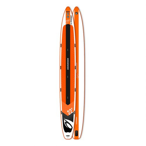 STAND UP PADDLE BOARD GONFLABLE PVC GEANT SPEEDCRAFT AQUADESIGN VUE DEVANT ET DERRIERE