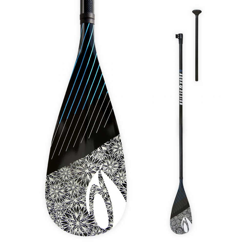 Pagaie SUP (Stand Up Paddle Board) Aura 2 parties 70% carbon