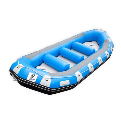 RAFTING GONFLABLE PVC FOND DROPSTITCH PULSE 415 AQUADESIGN VUE D'ANGLE