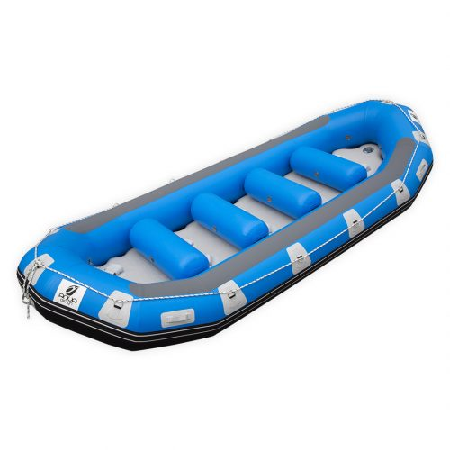RAFTING GONFLABLE PVC FOND DROPSTITCH PULSE 470 AQUADESIGN VUE D'ANGLE