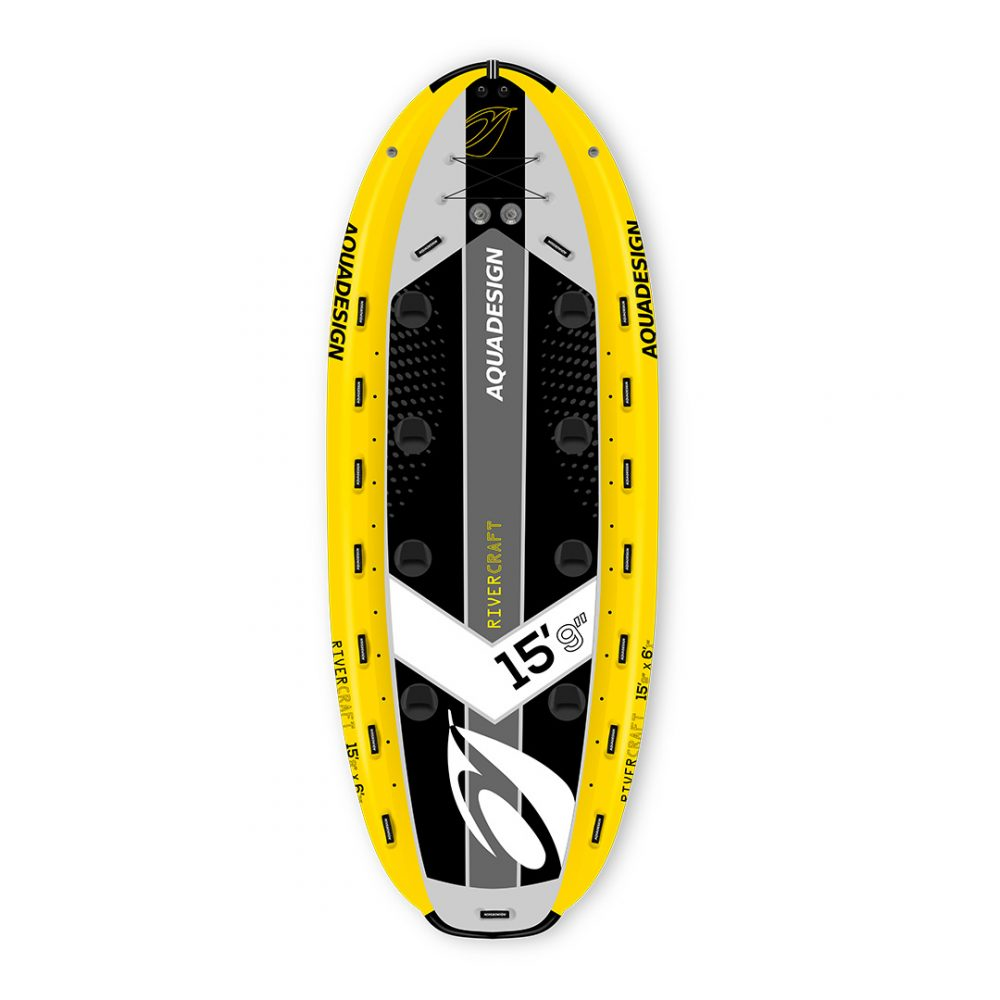 STAND UP PADDLE BOARD GONFLABLE PVC RIVERCRAFT AQUADESIGN VUE DEVANT