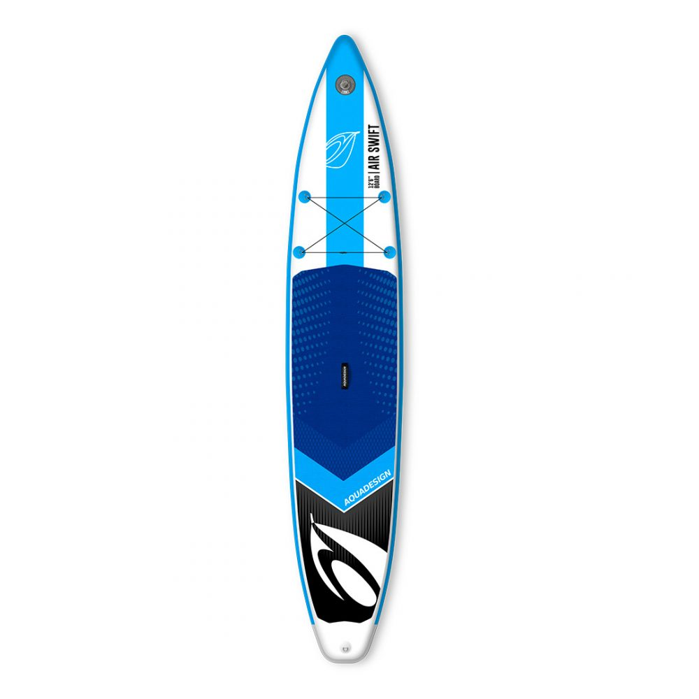 STAND UP PADDLE BOARD GONFLABLE PVC AIR SWIFT AQUADESIGN VUE DEVANT