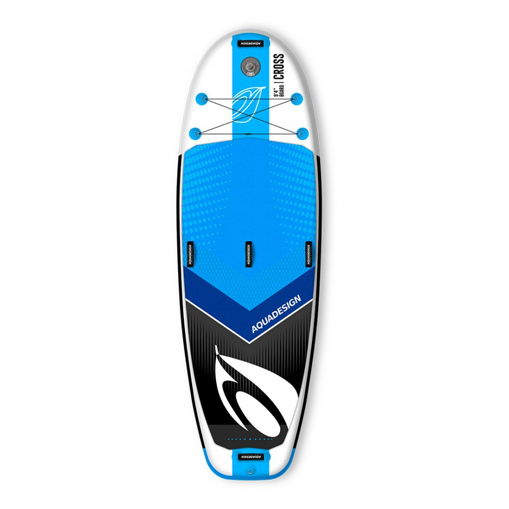 STAND UP PADDLE BOARD PVC CROSS AQUADESIGN VUE DE DESSUS