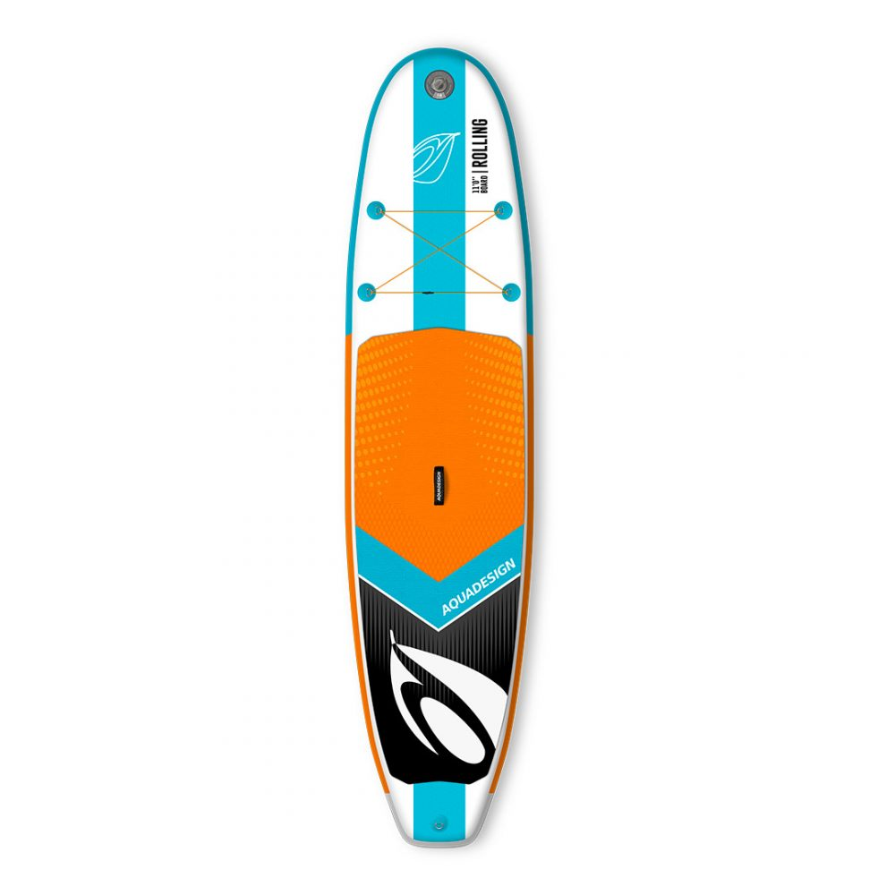 STAND UP PADDLE BOARD GONFLABLE PVC ROLLING AQUADESIGN VUE DEVANT