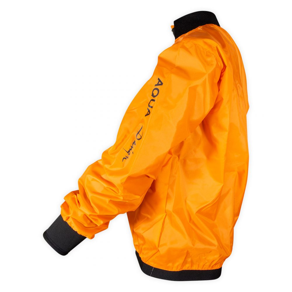 Cheap orange Touring club windcheater side view