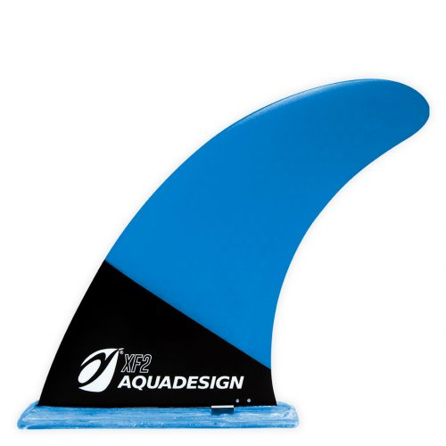 SUP FIBRE BLUE PVC universal size fin for Stand Up Paddle Board