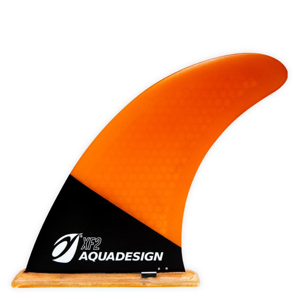 Aileron SUP FIBRE ORANGE (Stand Up Paddle Board) PVC de taille universelle pour Stand Up Paddle Board