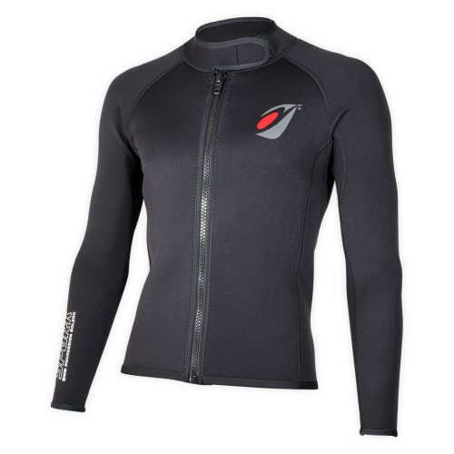 Bolero Jacket Neoprene Spark 3mm with ZIP ideal rafting, canyoning corner view
