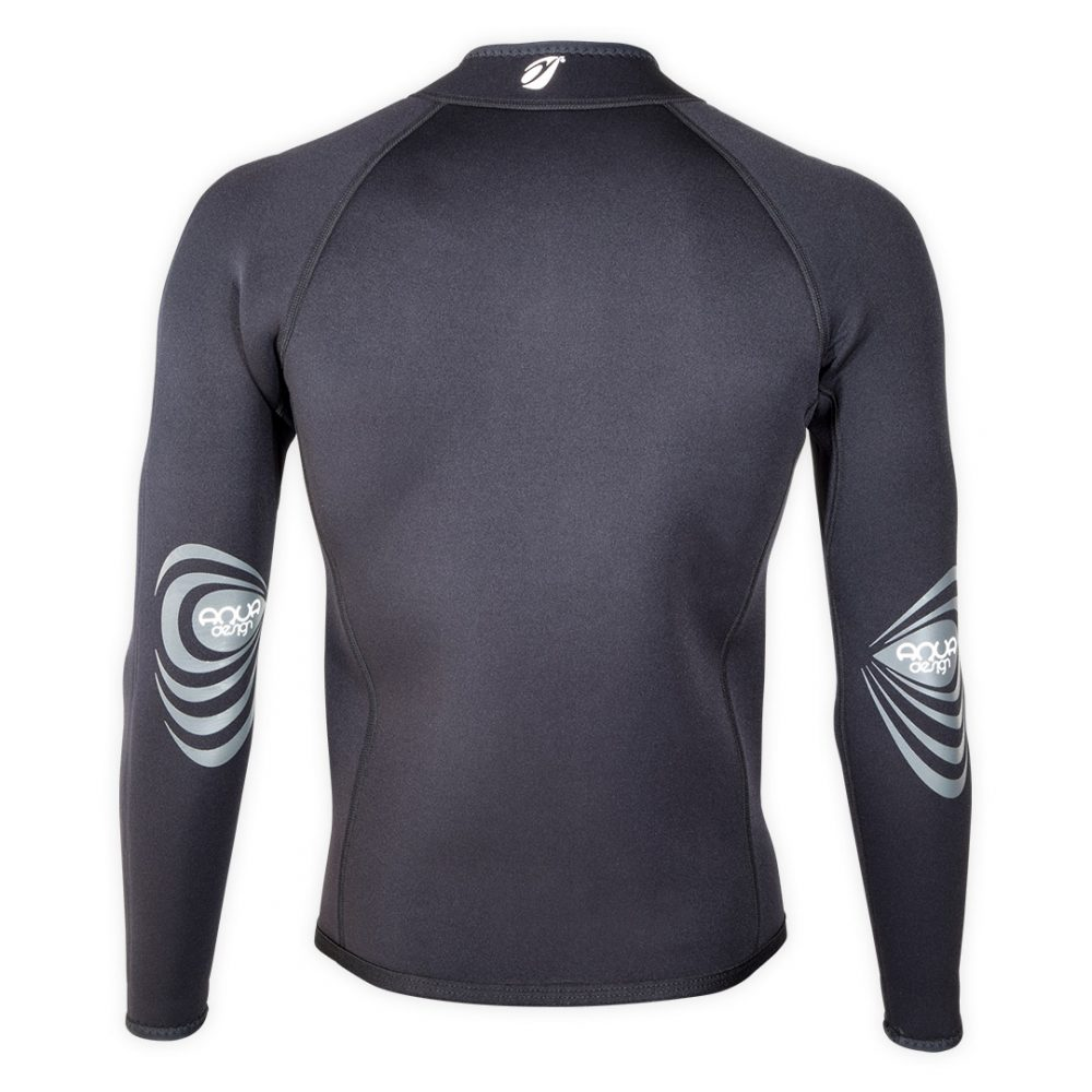 Bolero Jacket Neoprene Spark 3mm with ZIP ideal rafting, canyoning back view