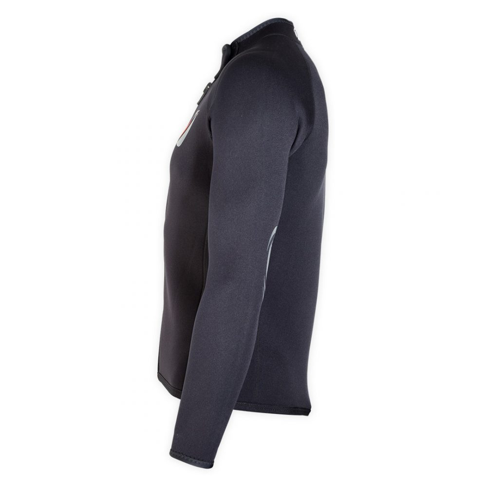 Bolero Jacket Neoprene Spark 3mm with ZIP ideal rafting, canyoning side view