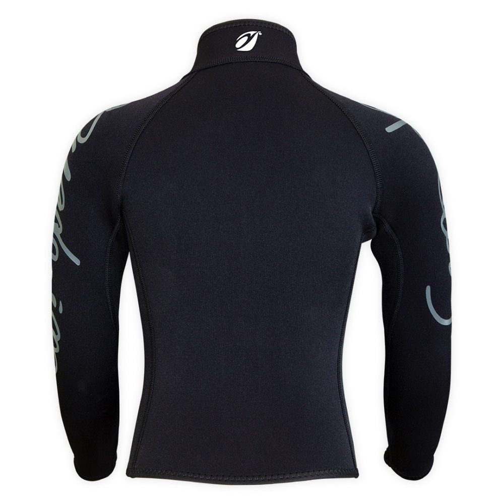 Bolero Jacket Neoprene Spark Junior 3mm with ZIP ideal rafting, canyoning back view