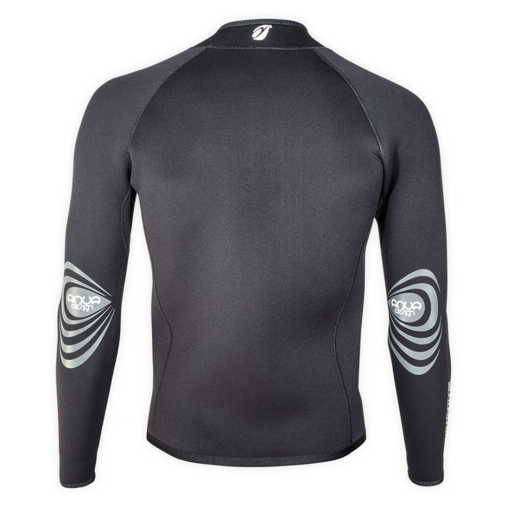 Neoprene bolero jacket Keeps 4mm with ZIP ideal rafting, canyoning back view