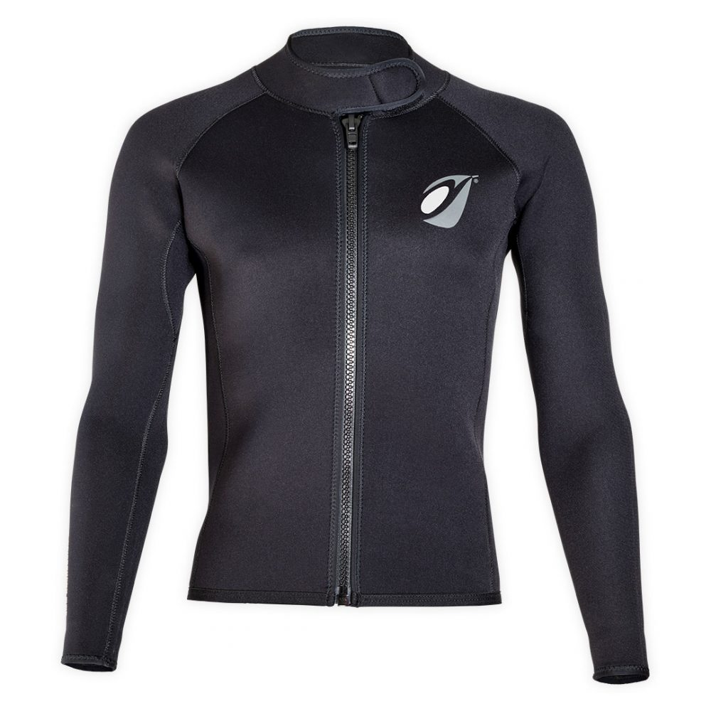 Neoprene bolero jacket Keeps 4mm with ZIP ideal rafting, canyoning front view