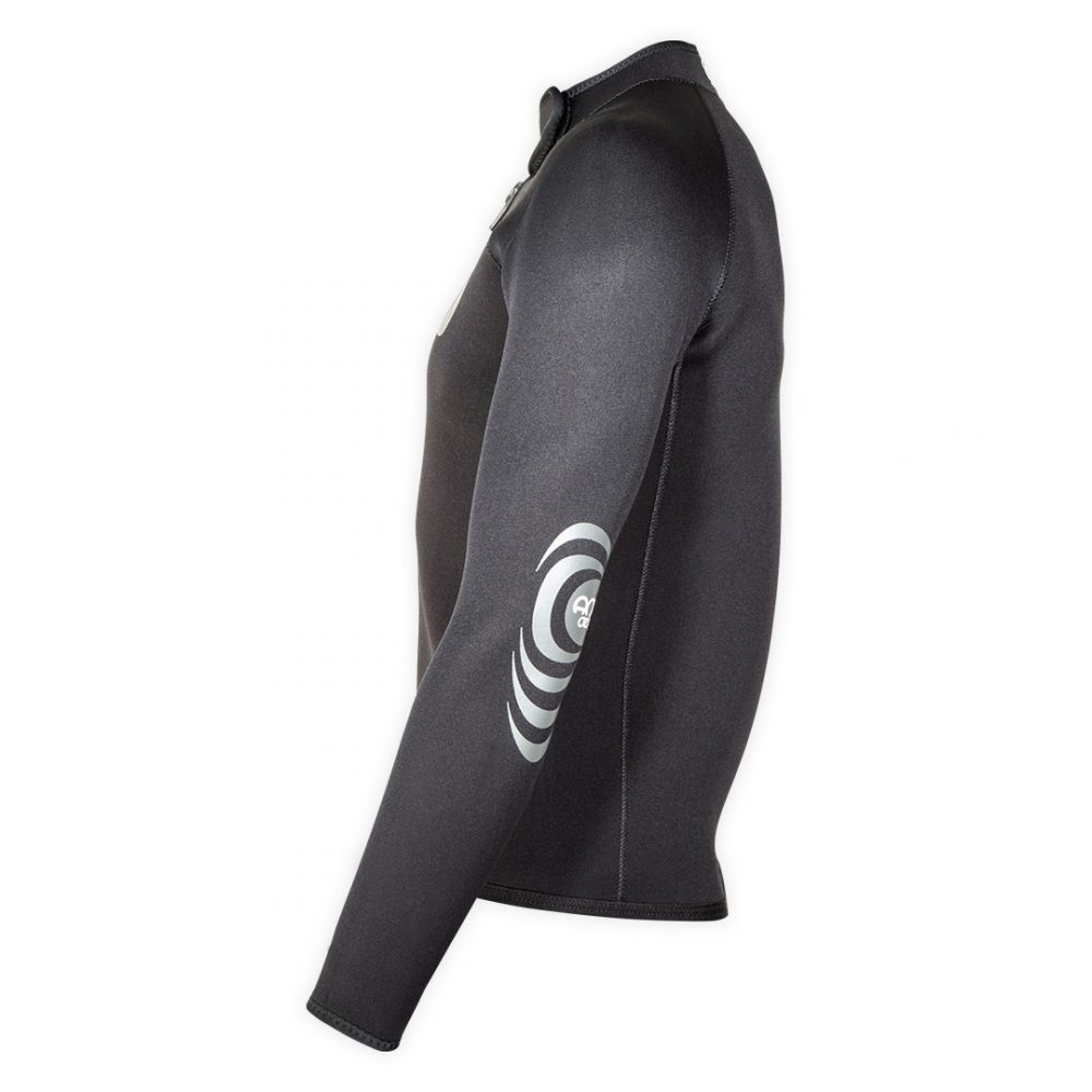 Neoprene bolero jacket Keeps 4mm with ZIP ideal rafting, canyoning side view