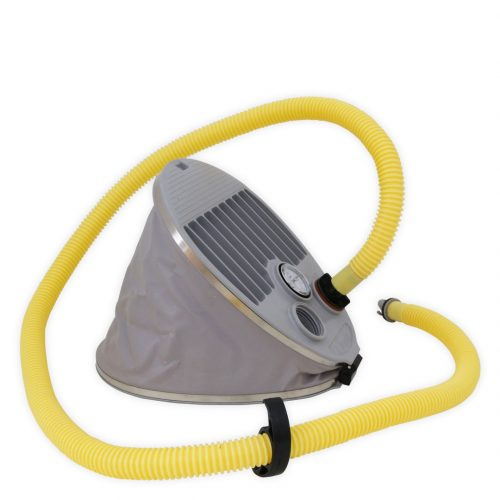 Universal foot inflator for canoe kayak and inflatable camping mattresses