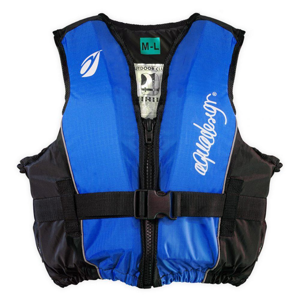 Gilet canoë kayak outdoor club bleu