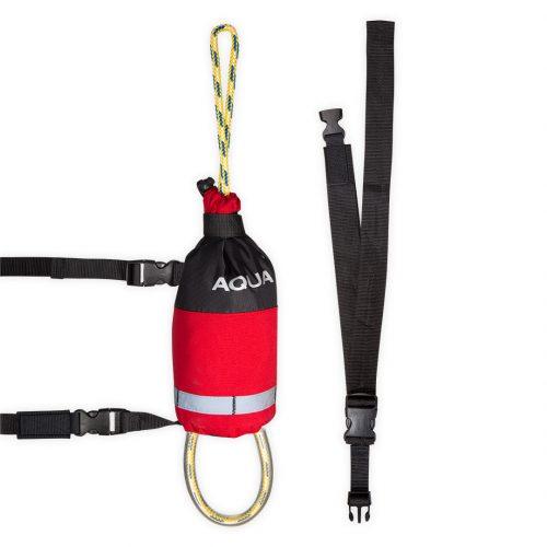 Corde de sécurité avec ceinture 20 mètres rouge canoë kayak rafting