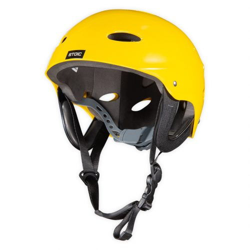Helmet Stoïc canoe kayak rafting CE standard YELLOW adjustable angle view helmet