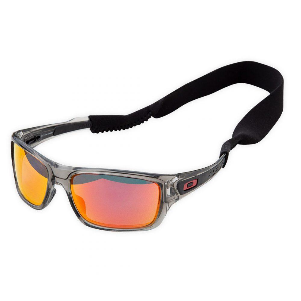 Attache lunettes néoprène noir simetrie vue sur monture