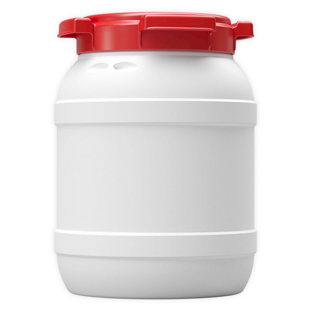 Curtec kayak waterproof container 6 Liters in white and red plastic
