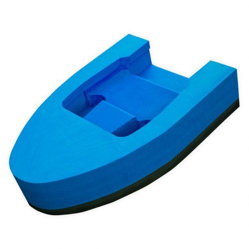 Flotteur mousse Splash Hydrospeed nage en eau vive bleu vue d'angle