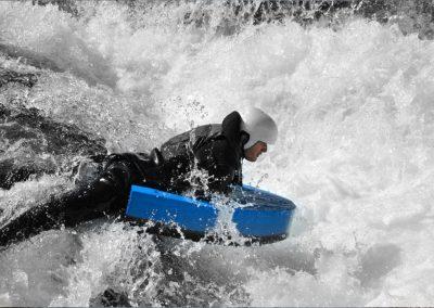 Flotteur mousse Splash Hydrospeed nage en eau vive en situation ©iodonna 1