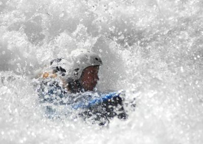 Flotteur mousse Splash Hydrospeed nage en eau vive en situation ©lavaguerafting 2
